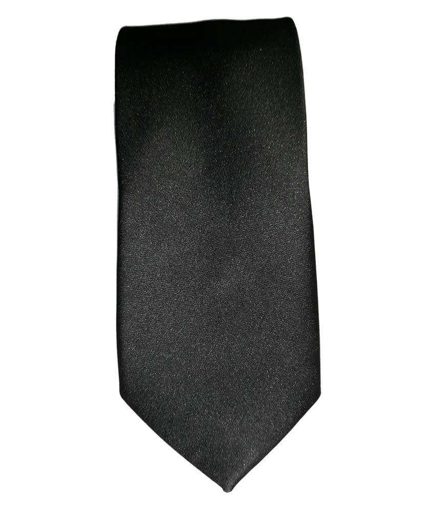 Raymond Park Avenue Black Silk Neck Tie
