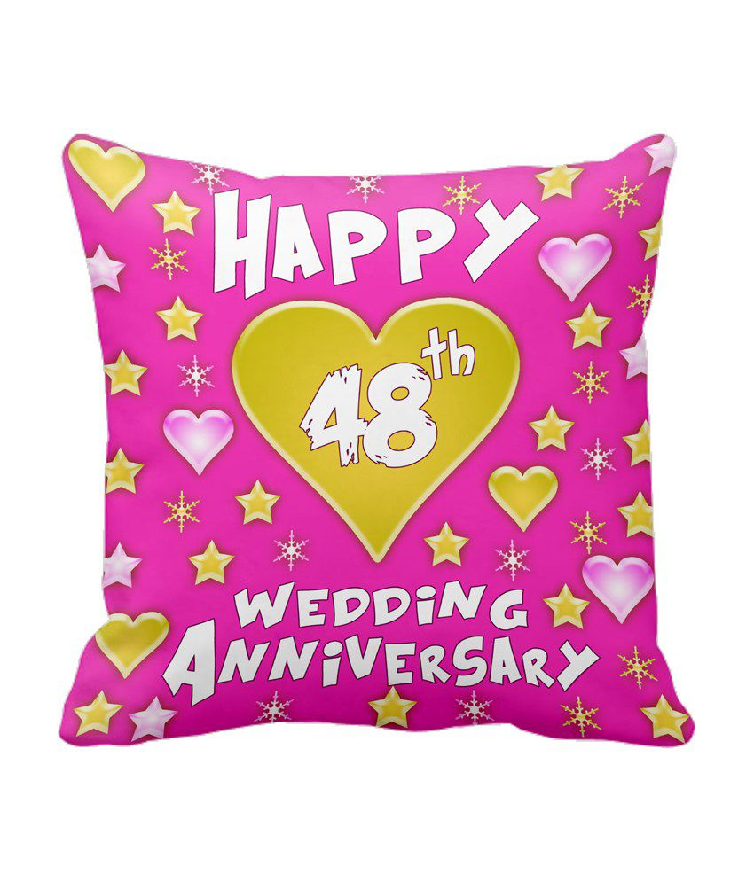 48th Wedding Anniversary Gift Ideas: Tiedribbons Gift For 48th Happy Anniversary Cushion Cover