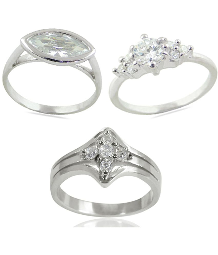 Arsh Crown Sky Dominion 4.24 CTW 925 Sterling Silver Cubic Zirconia Ring