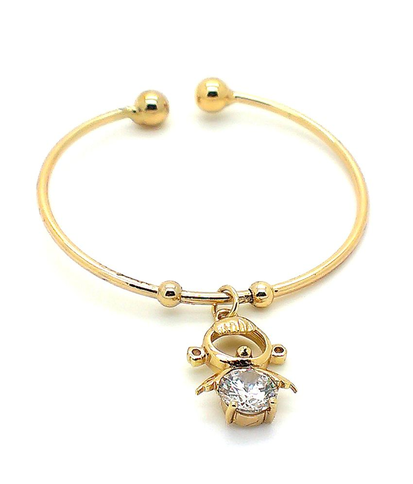 Beora 18k Gold Plated Pendant Wrist Cuff Bangle Bracelet