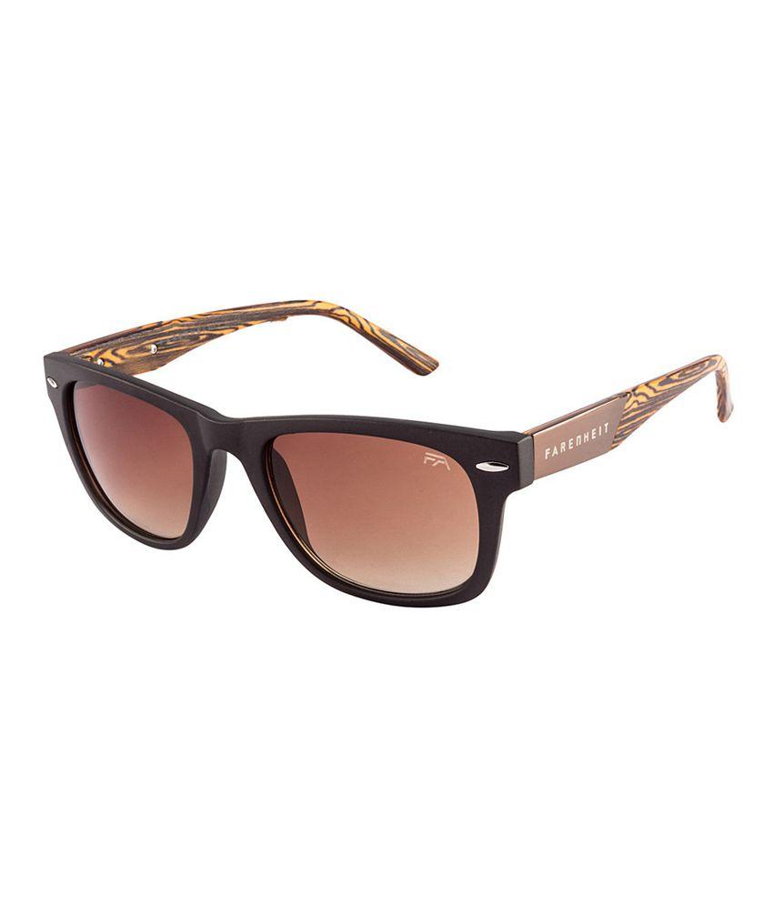 Farenheit SOC-FA1033-C3 Brown/Brown Wayfarer Sunglasses