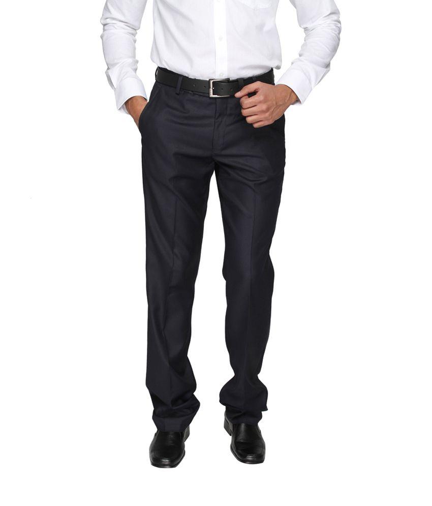 Globus Men's Formal Blue Trousers