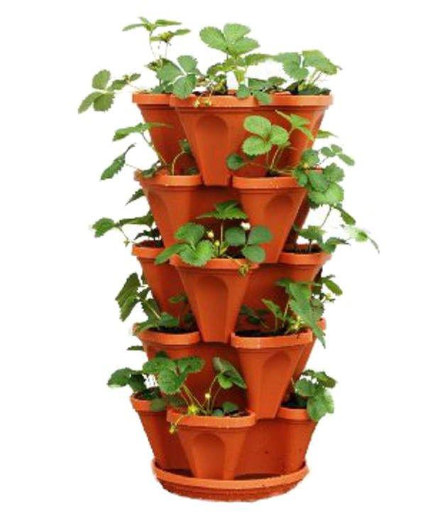 Malhotra Plastic Stack A Pot For Floor Set Of 7 Pcs 6