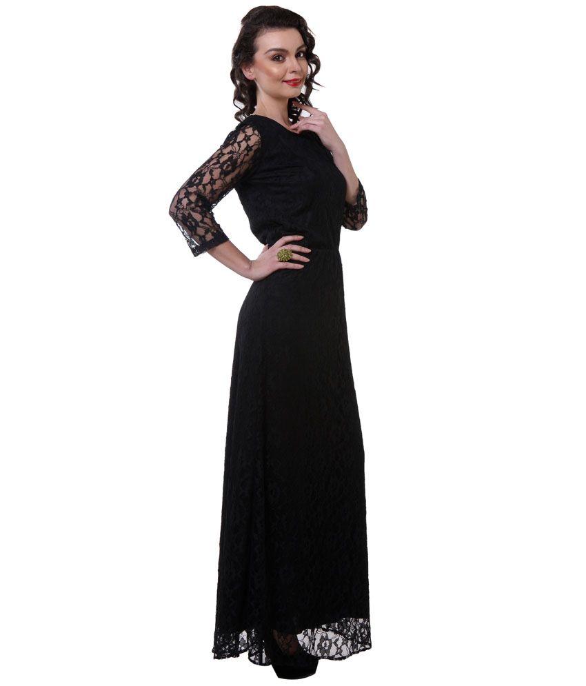 Purys Black Lace Maxi Dress - Buy Purys Black Lace Maxi Dress ...
