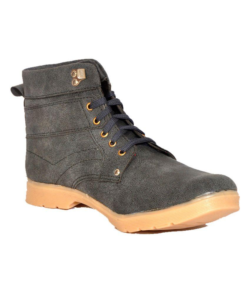 Shoe Mate Grey Stylish Boot