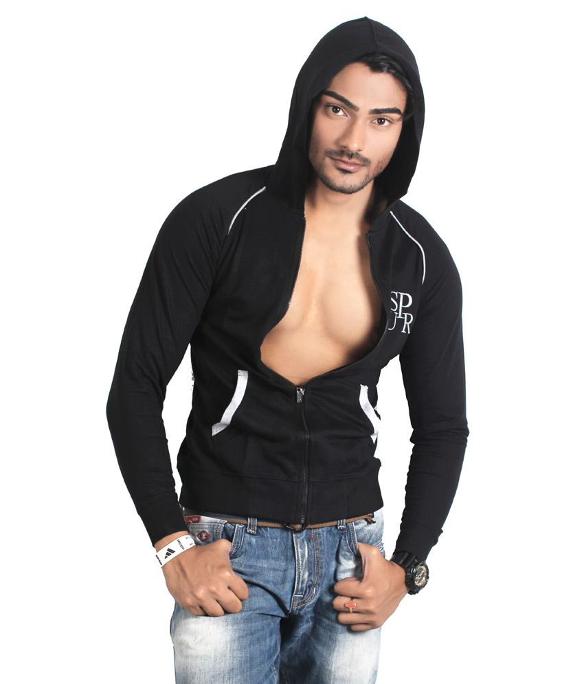 Spur Black Full Sleeve T-shirt