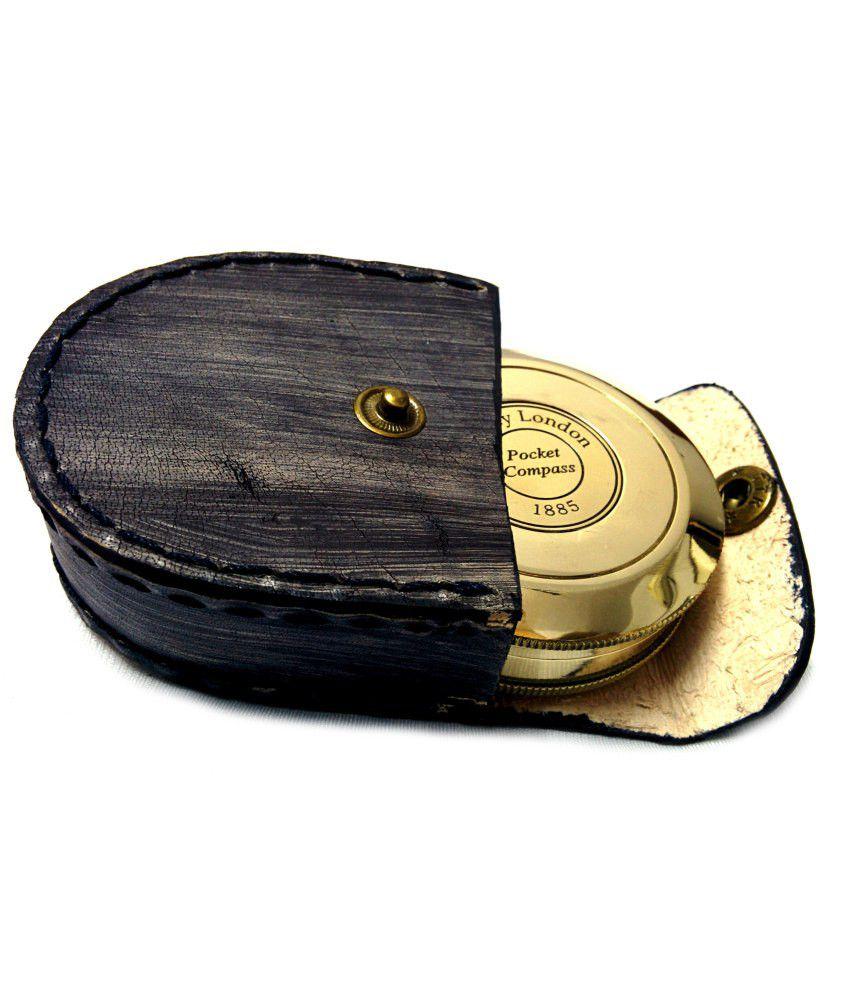 Artshai Shiny Brass Magentic Compass