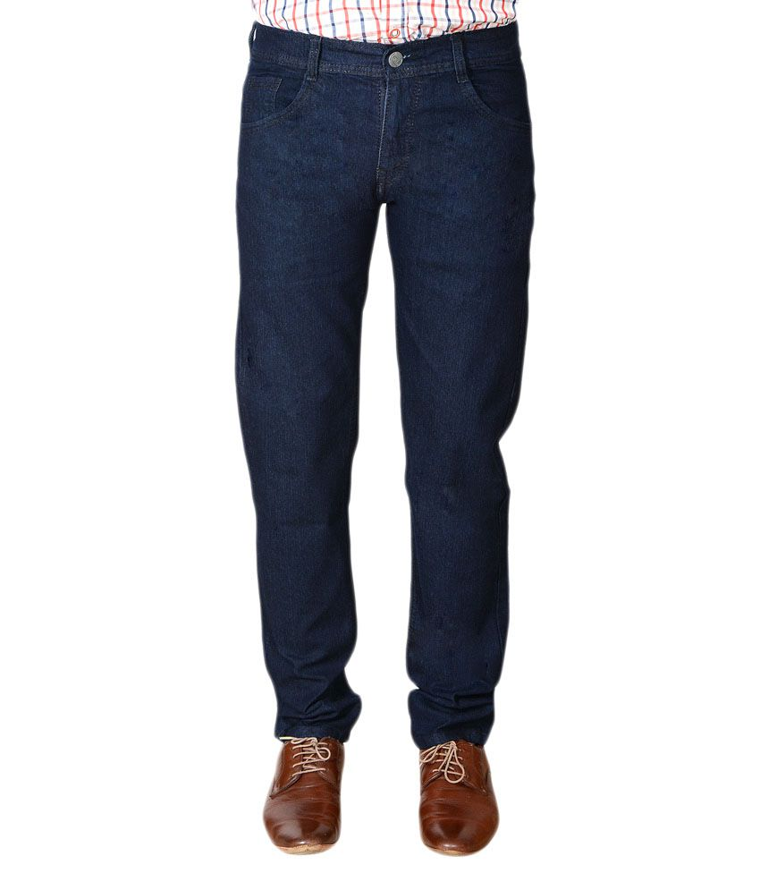 Flyjohn Trendy Dark Blue Jeans