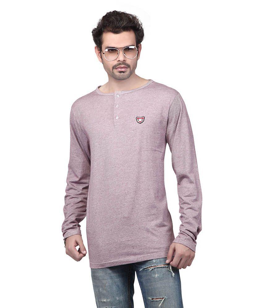 Free Spirit Multicolour Cotton Full Sleeves Henley Neck T-shirt
