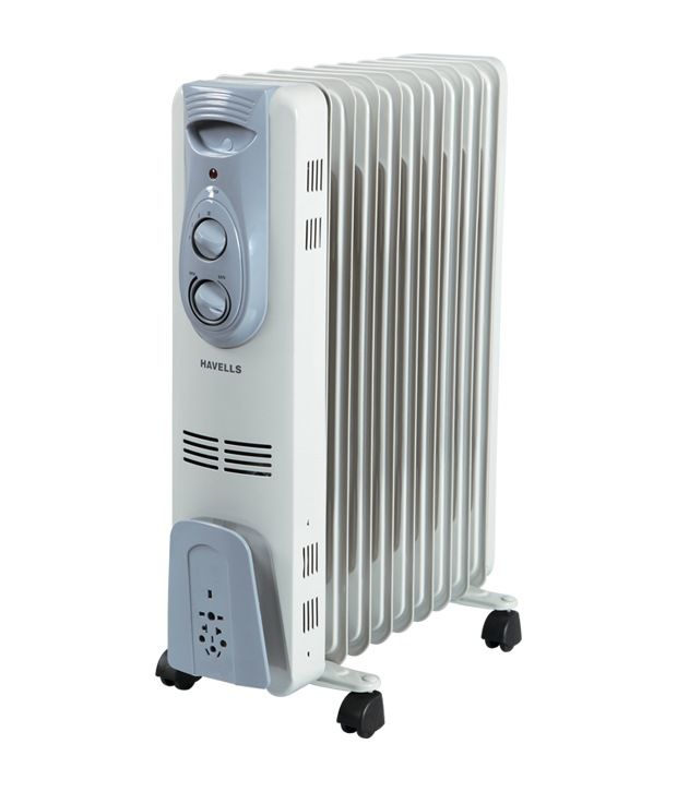 Havells 2000 W Havells Ofr - 9Fin 2000W Oil Filled Radiator Grey And White