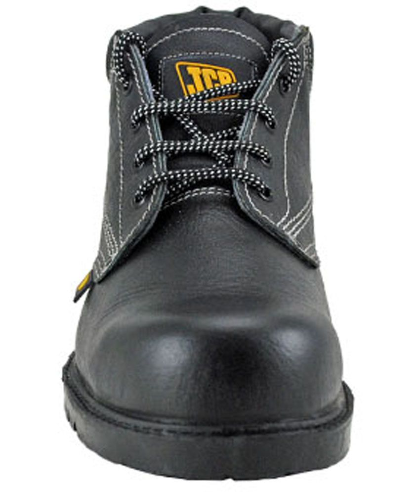 90a592b7343 Buy Jcb Black Leather Safety Shoes Online at Low Price in India ...