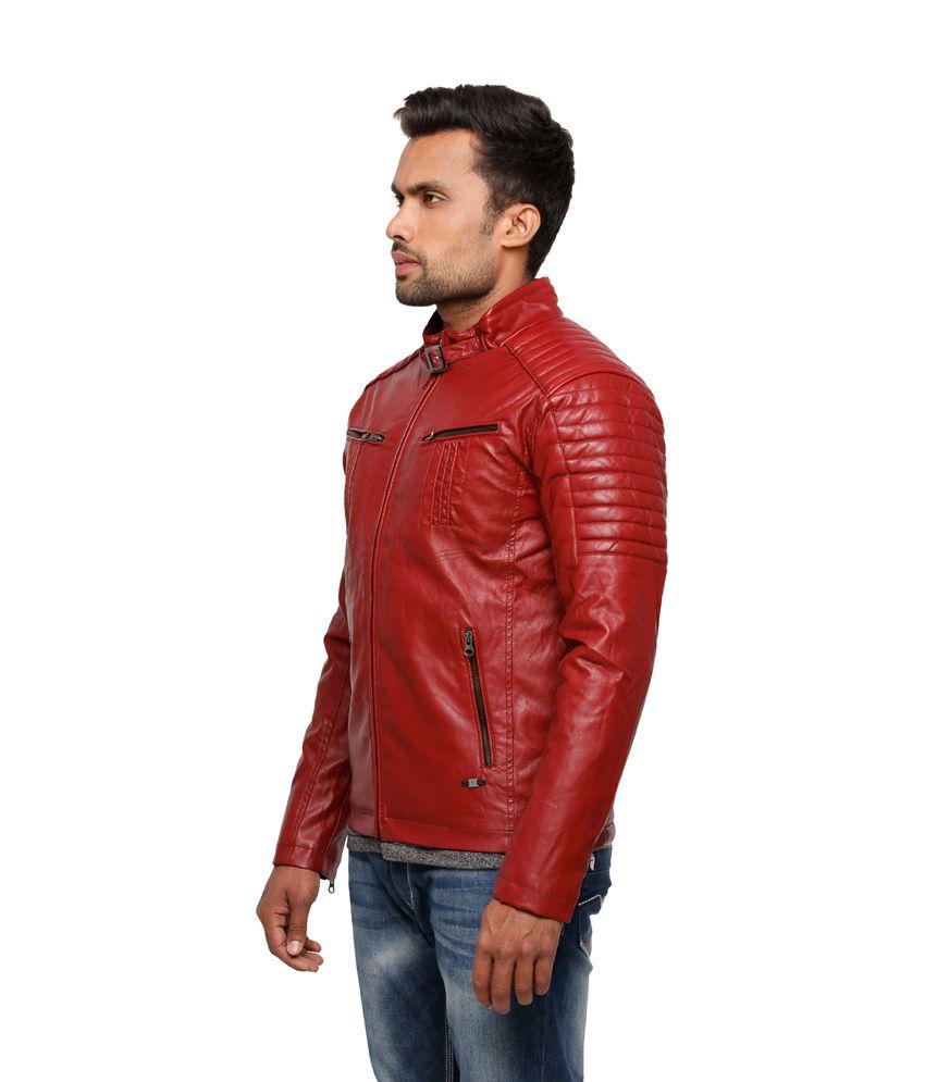 Red Leather Jacket For Men - Jacket