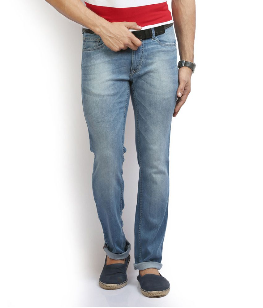 Thisrupt Blue Cotton Skinny Jeans