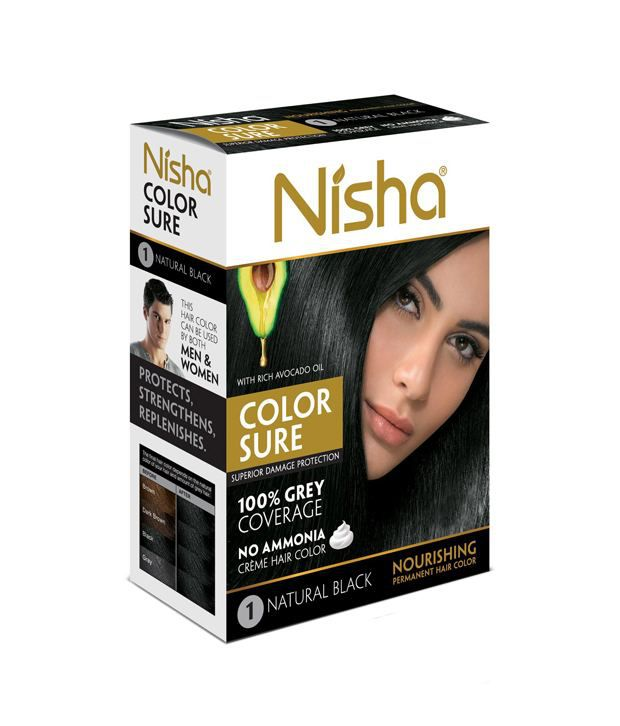 nisha color sure hair color jumbo buy 1 get 1 free buy nisha