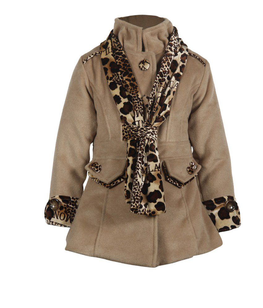 Cutecumber Beige Mesh Full Sleeve Coats