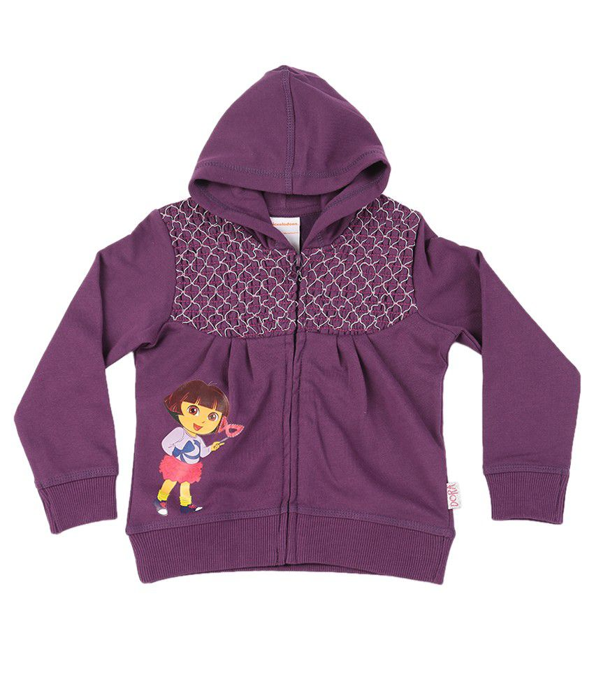 Dora Lavender Graphic Cotton Sweatshirt