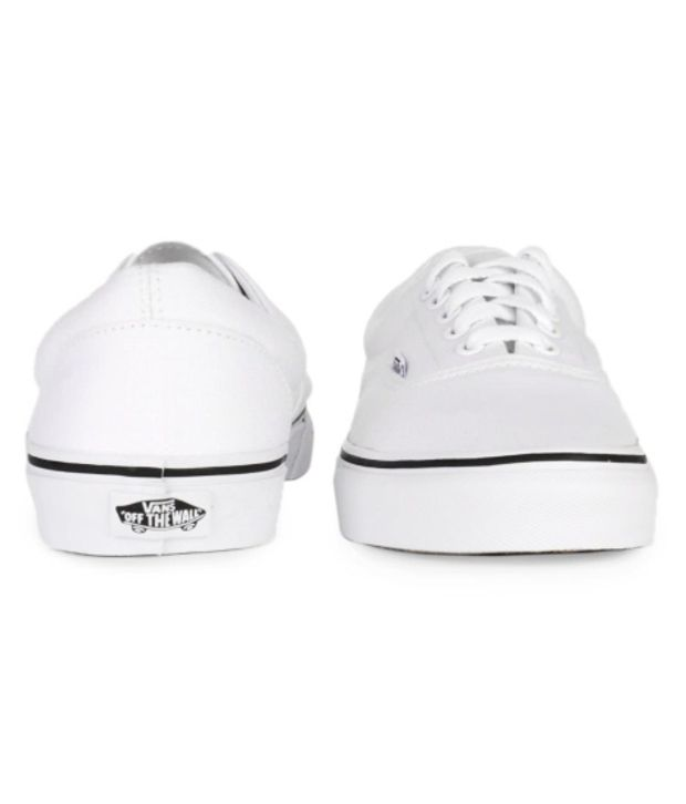 VANS White Canvas Shoes - Buy VANS White Canvas Shoes Online at ...