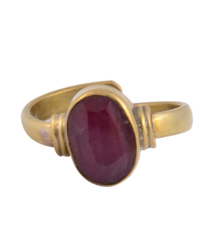 Sunrise Mantra Healed Astrological Ruby / Mankiya Ring For Sun
