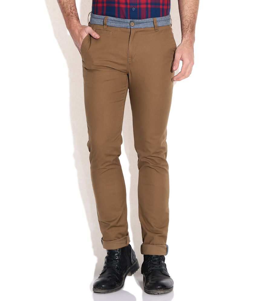 United Colors Of Benetton Brown Slim Fit Chinos