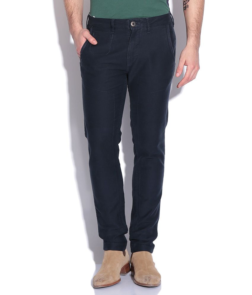 United Colors Of Benetton Navy Slim Fit Chinos