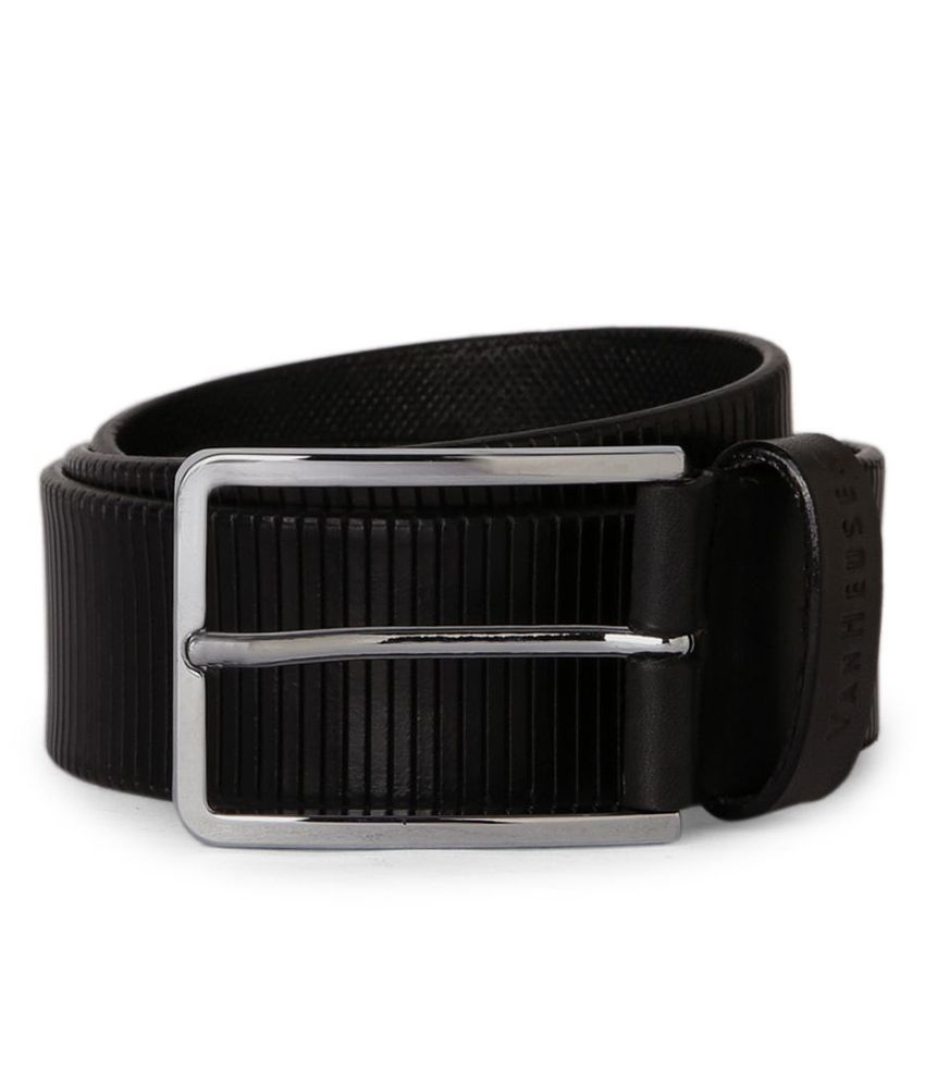Van Heusen Black Textured Belt