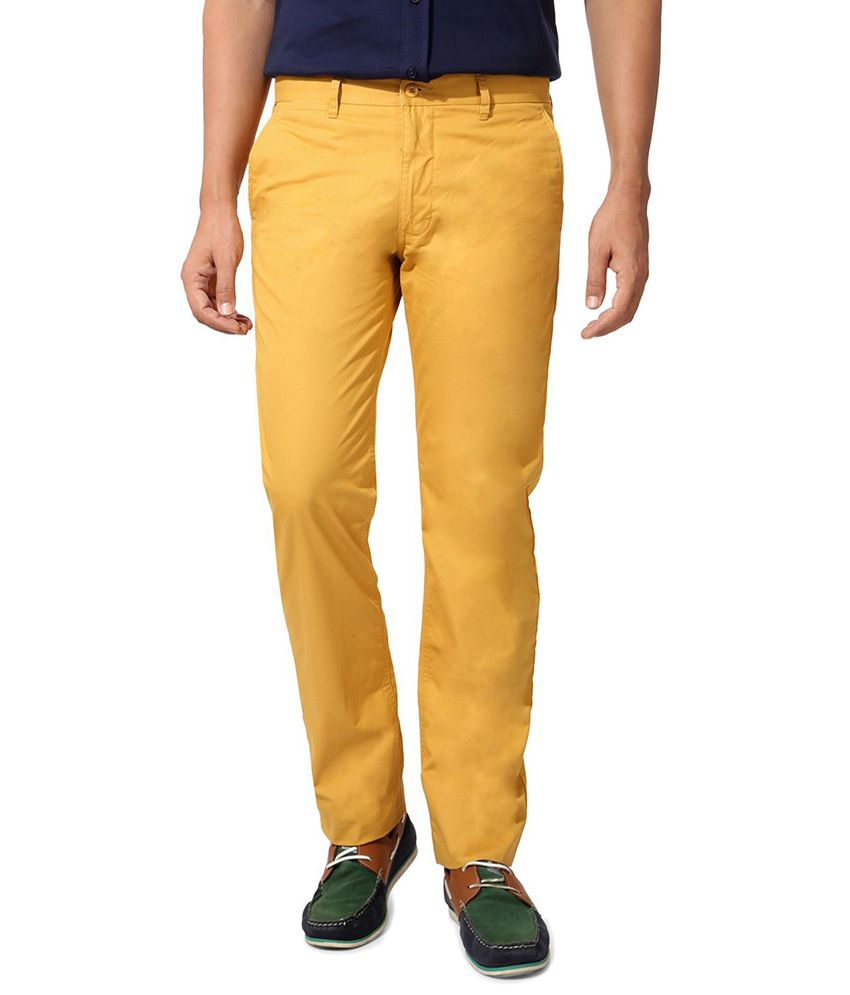 Van Heusen Yellow Regular Formals