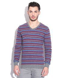 United Colors Of Benetton Multicolored Lambs Wool Sweater