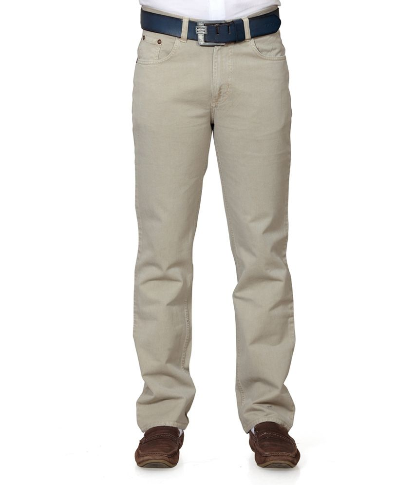 Klix Jeans Khaki Regular Fit Jeans