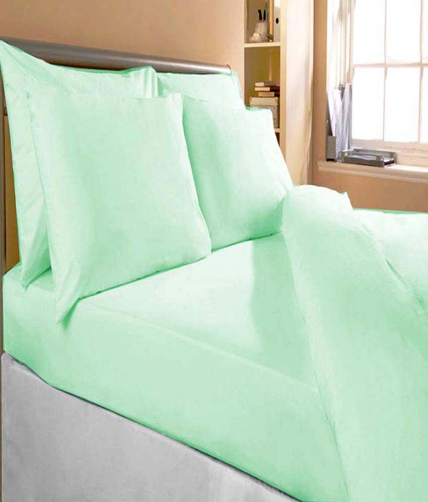 Fogg Multi-colour Printed Cotton 2 Bed Sheets With 4 Pillow Covers ...