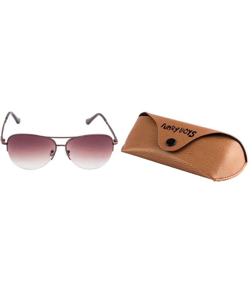 Funky Boys SOC-FB-4043-C3 Brown/Gray Gradient Aviator Sunglasses