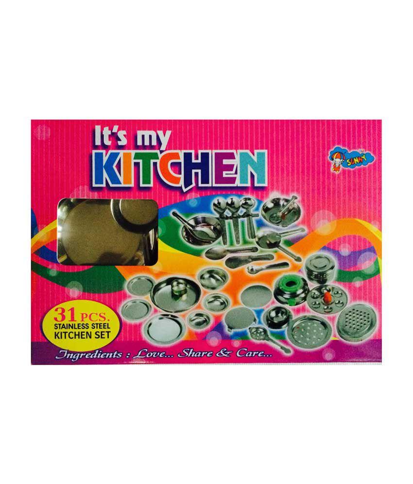 Stainless Steel Kitchen Set Toy India Erigiestudio
