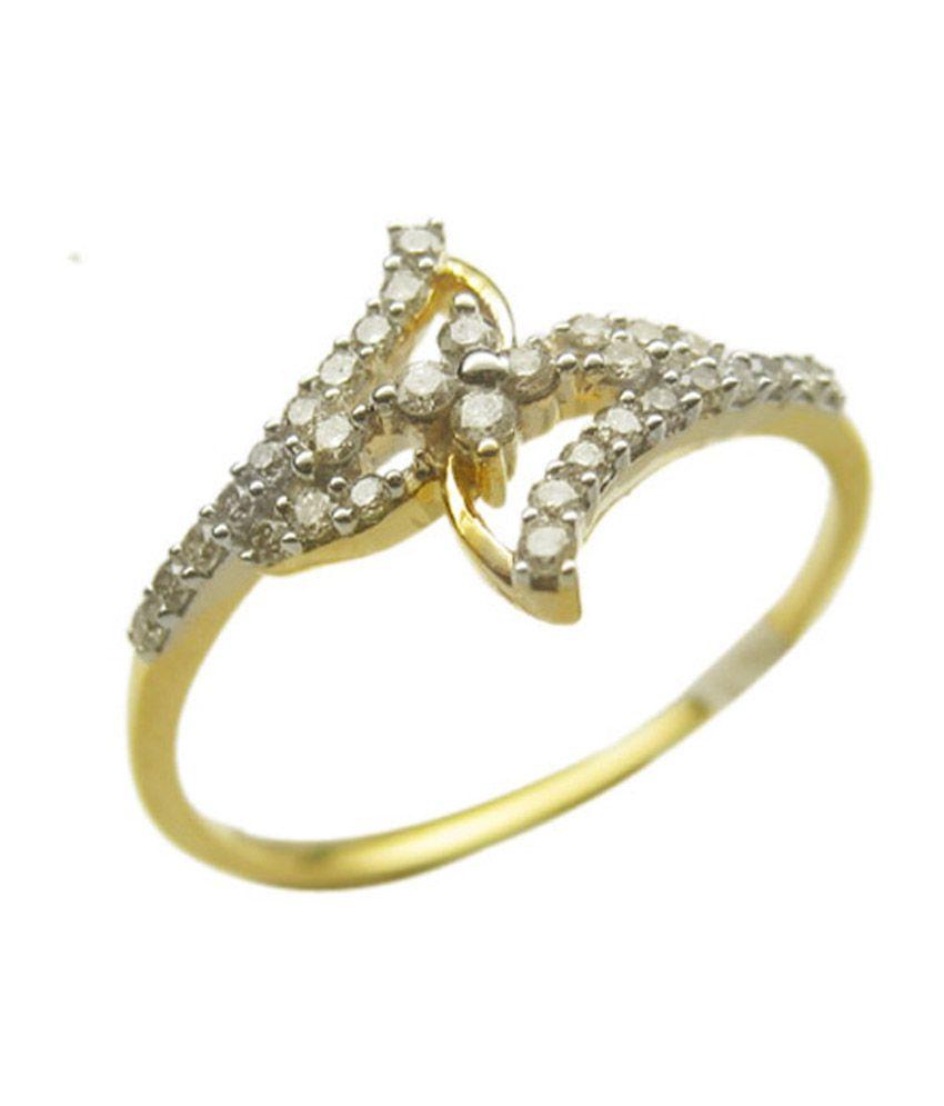 Anaira's Diamond Jewellery 14 Kt Gold Designer Diamond Ring
