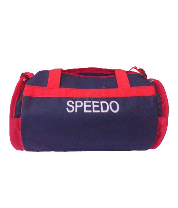 Brilliant Red Polyester Speedo Gear Gym Bag