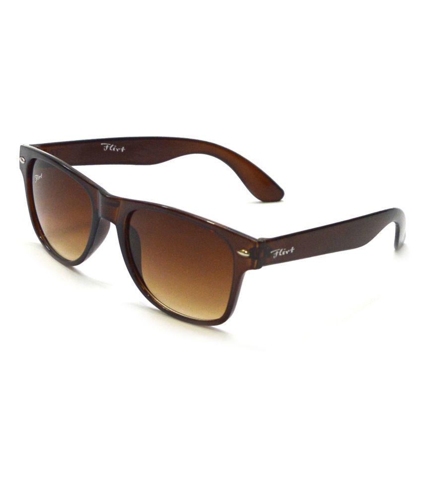 Flirt Brown Designer Wayfarer Sunglasses For Men