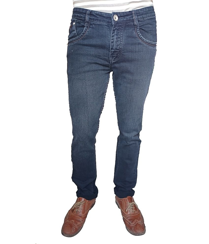 Lag Jeans Blue Cotton Blend Faded Jeans