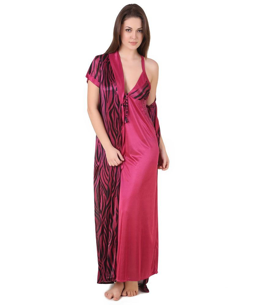 Buy Masha Maroon Satin Robe Pack of 2 Online at Best Prices in India -  Snapdeal b7d06b411