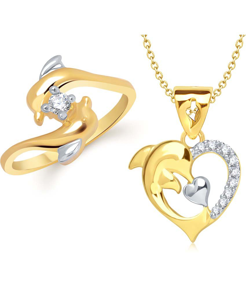 Vk Jewels Gold Style Diva Daily Wear Ring Pendant Buy