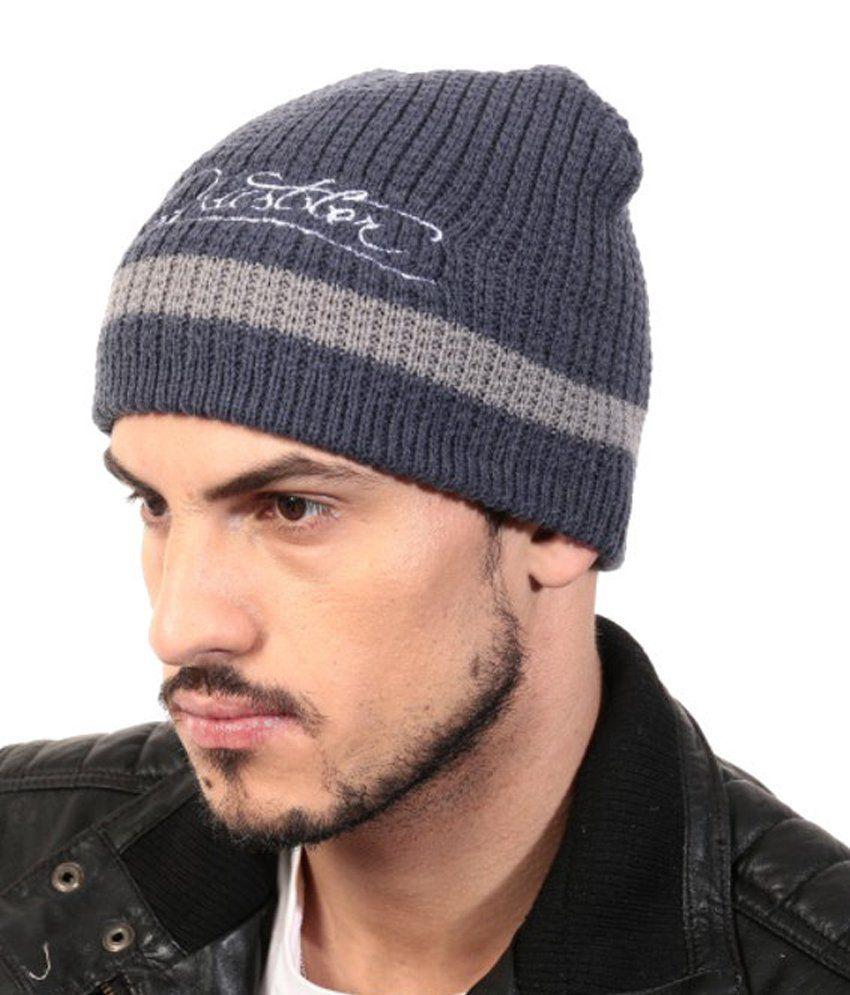Zanky Gray Woollen Winter Caps