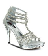 Get Glamr Silver Heeled Sandal