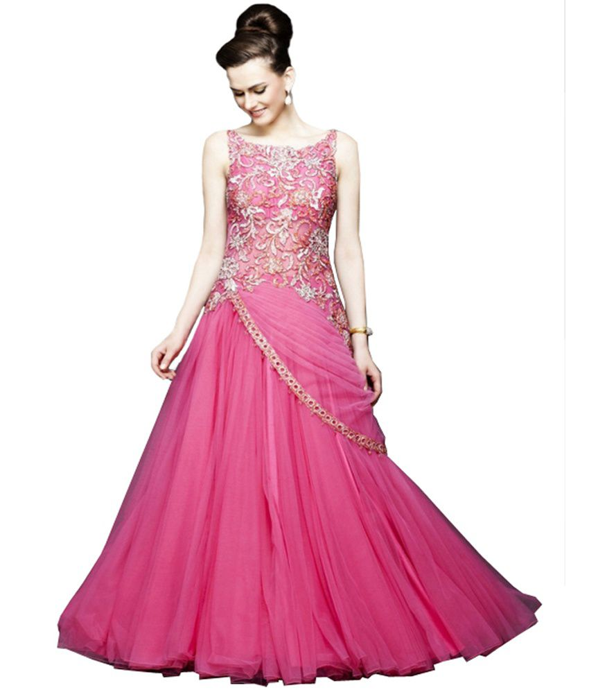0701b3e8e4 Sulbha Pink Net Gowns - Buy Sulbha Pink Net Gowns Online at Best Prices in  India on Snapdeal