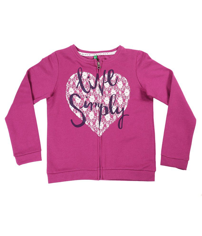 United Colors Of Benetton Pink Sweatshirt
