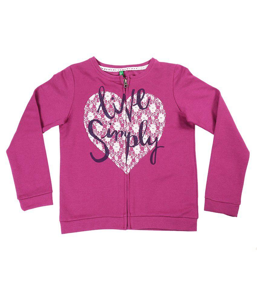 United Colors Of Benetton Pink Sweatshirt