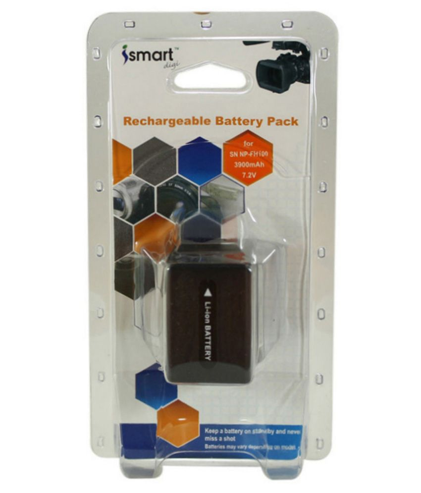 Ismart Replacement Rechargeable Li-ion Battery For Sony Np Fh-100, 3900mah - Black