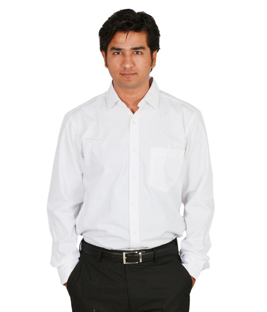 defa954b9c8 Ivoc White Solid Men Shirt - Buy Ivoc White Solid Men Shirt Online at Best  Prices in India on Snapdeal