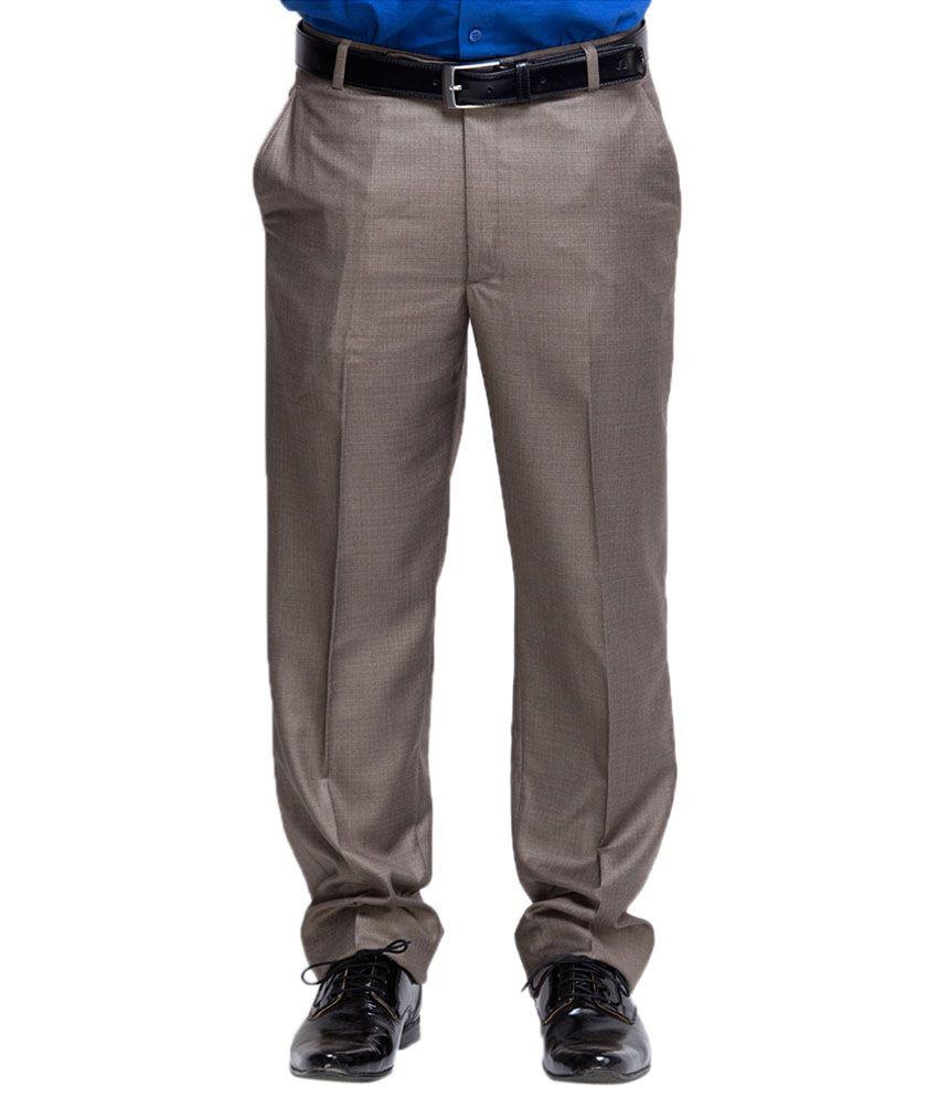 Oxolloxo Grey Polyester Regular Wear Trouser