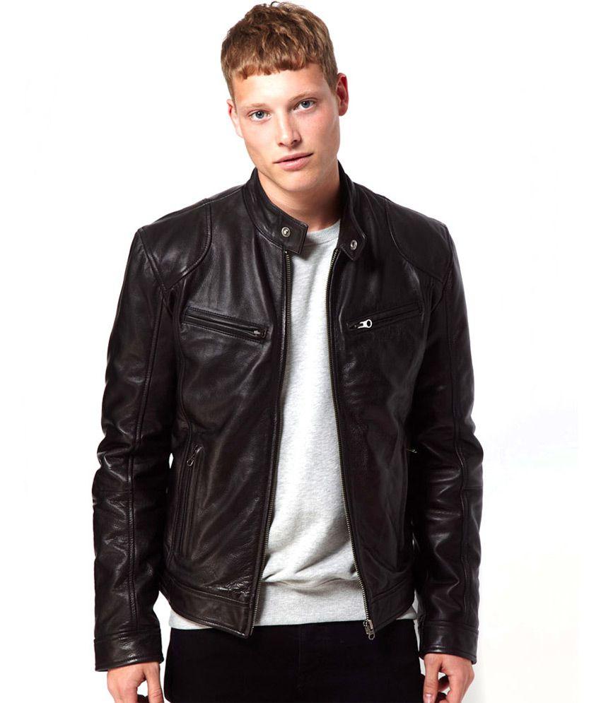 V4m X- Rider Black Men&39s Leather Jacket - Buy V4m X- Rider Black