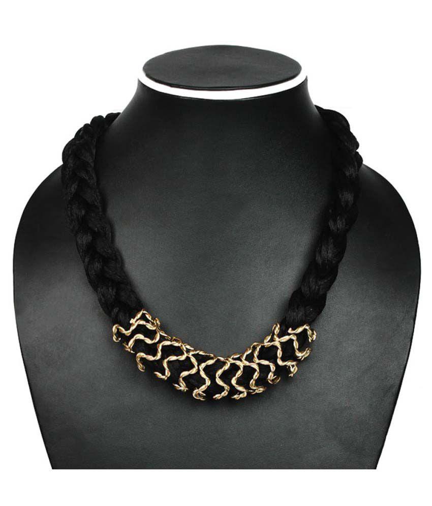 Joyeria Milan Black Rope Necklace