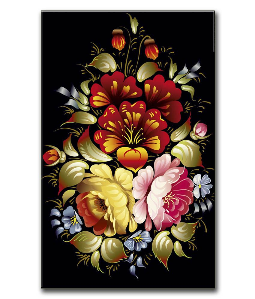 Anwesha's Gallery Wrapped Digitally Printed Canvas Wall Painting 12.5 X 20 Inch - Flower