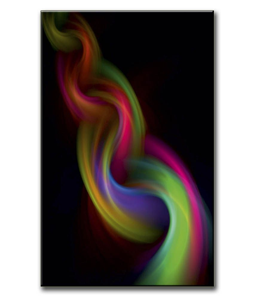 Anwesha's Gallery Wrapped Digitally Printed Canvas Wall Painting 12.5 X 20 Inch - Smoke