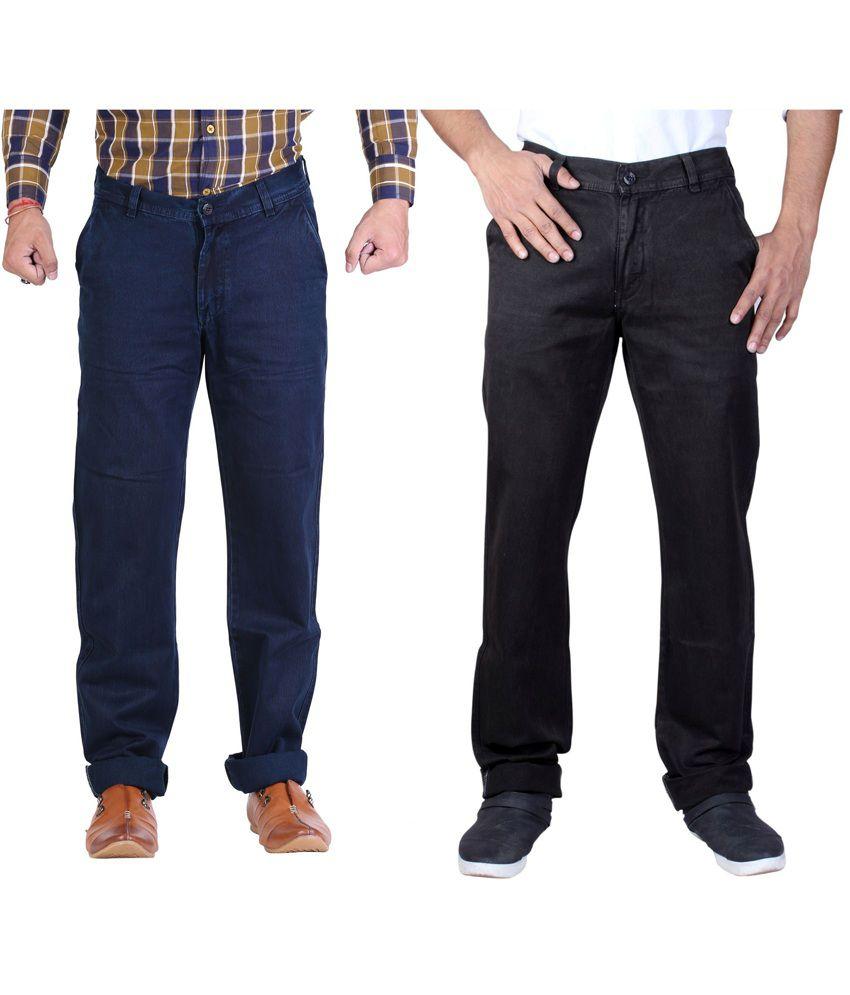 Male Standard Blue Cotton Regular Men's Jeans